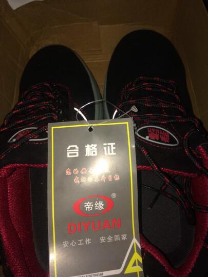 帝缘(DIYUAN)劳保鞋男女工作安全透气钢包头防刺穿绝缘电工鞋电焊厨师耐油防滑 810蓝色透气 45 晒单图