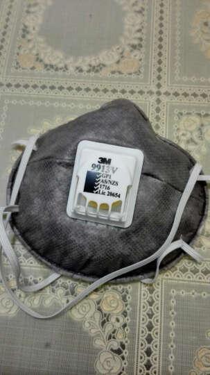 3M 口罩 KN90 活性炭层 防颗粒物 头戴式 10只/盒 9913V 晒单图