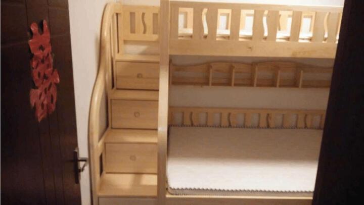 大梵林 儿童床 松木高低床子母床 实木双层床上下铺床 母子床带梯柜 组合床木架子床 双层床带梯柜+拖床 1500*2000 晒单图