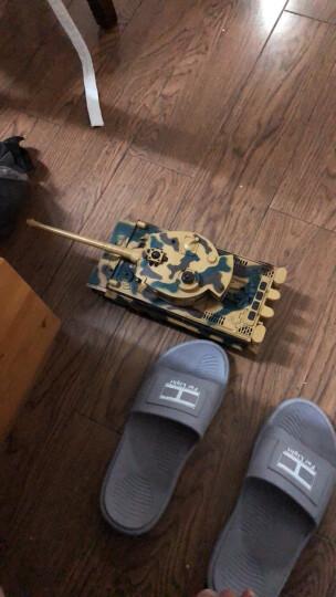 勾勾手(GOUGOUSHOU) 遥控车坦克玩具车遥控汽车 无线对战坦克男孩玩具可充电 中国96式-迷彩绿+配2组电池 晒单图