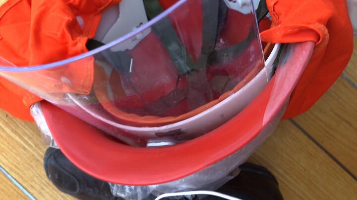 谋福  防护头盔 消防头盔消防战斗服消防头盔 抢险救援帽 头盔消防帽 森林防火头盔 红色 晒单图