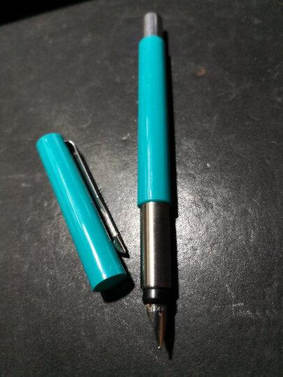 派克(PARKER)钢笔签字笔 威雅系列商务送礼生日礼物 小学生钢笔男女 定制刻字生日礼物520礼物 威雅蓝绿色胶杆墨水笔 晒单图