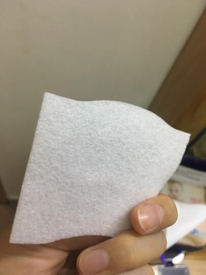 尤妮佳(Unicharm) 化妆棉 大赏1/2省水纤维去角质轻薄不留棉絮双面双效卸妆棉 省水型(40枚) 晒单图
