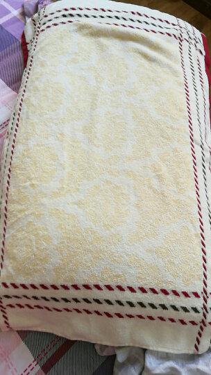 孚日洁玉 纯棉枕巾一对2条装 加厚全棉提花割绒情侣家用枕头巾 可爱小熊蓝1条+桔1条 晒单图