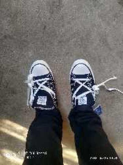 回力帆布鞋男女情侣款板鞋男春夏季韩版休闲帆布男鞋低帮平底男鞋子 黑色HL391T 42 晒单图