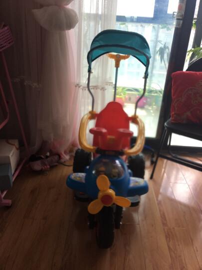 LEKANG 乐康儿童电动车三轮摩托车男女宝宝小汽车婴幼儿玩具四轮手推车小孩可坐人充电童车 柠檬红(玫红色遮阳蓬+大电瓶) 晒单图