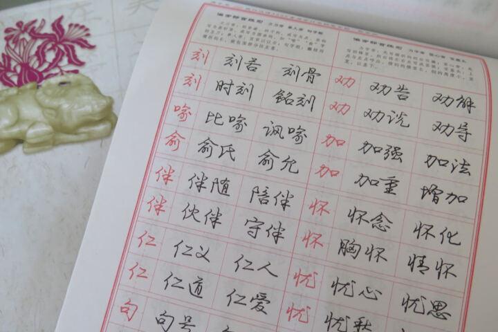庞中华现代汉语3500常用字行书钢笔字帖 晒单图