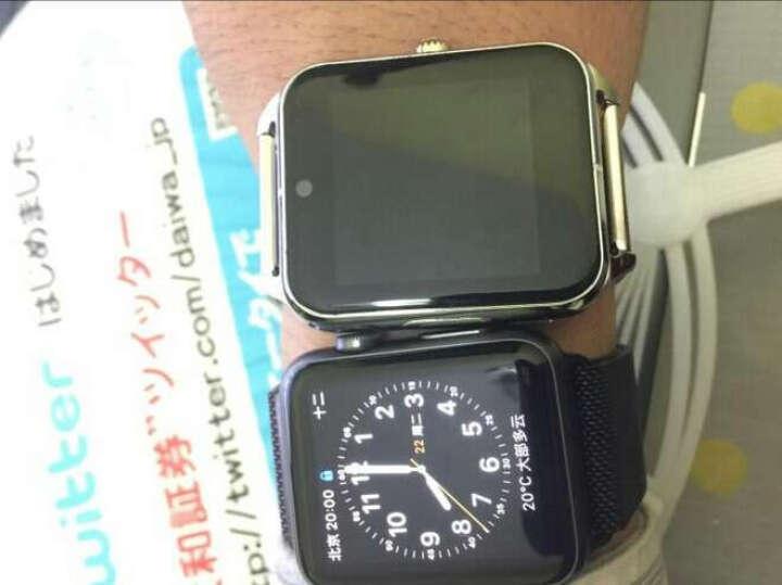 亦青藤(YQT) 亦青藤智能手表手机插卡电话手表不锈钢金属手表兼容安卓华为三星小米苹果男女情侣款 石墨黑 +8G畅享版 晒单图