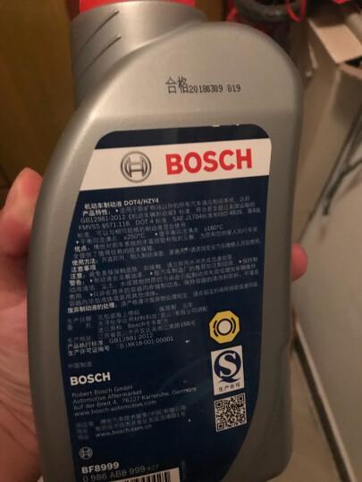 博世(BOSCH)DOT4 刹车油/制动液 1L塑料桶装 通用标准型(干沸点250℃/湿沸点160℃)进口原料国内调配 一升装 晒单图