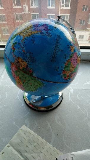 三格田(SANGTY) 20CM地球仪高清中学生用教学儿童书房摆件高25大2018新款 20CM地球仪(全金属架/弓形白络) 晒单图
