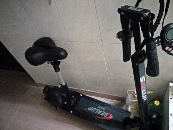 希洛普(SEALUP) 锂电池折叠迷你电动车 城市便携电瓶车自行车  电动滑板车 可折叠电动车电瓶车 三避震 8.8AH升级款30-35公里 晒单图