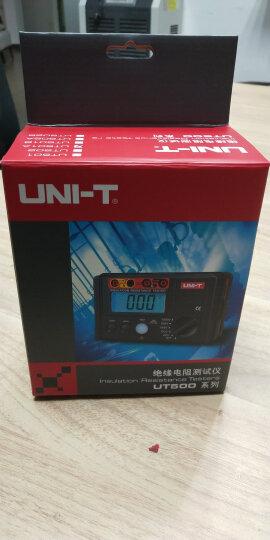 优利德 兆欧表绝缘电阻测试仪数字绝缘电阻表摇表 UT501A (测试电压1000V) 晒单图