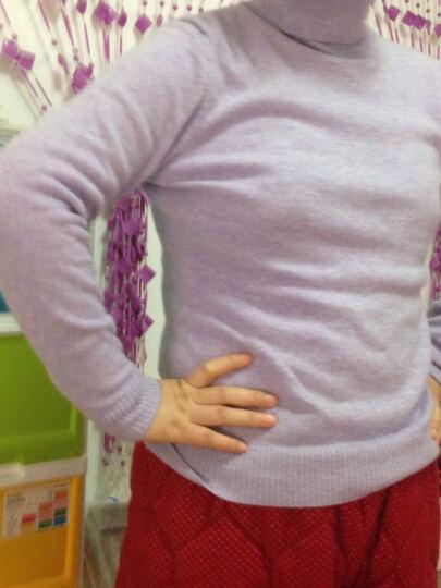 思诺芙德秋冬女装羊绒衫女套头高领打底衫多色百搭毛衣 米白色 105/L 晒单图