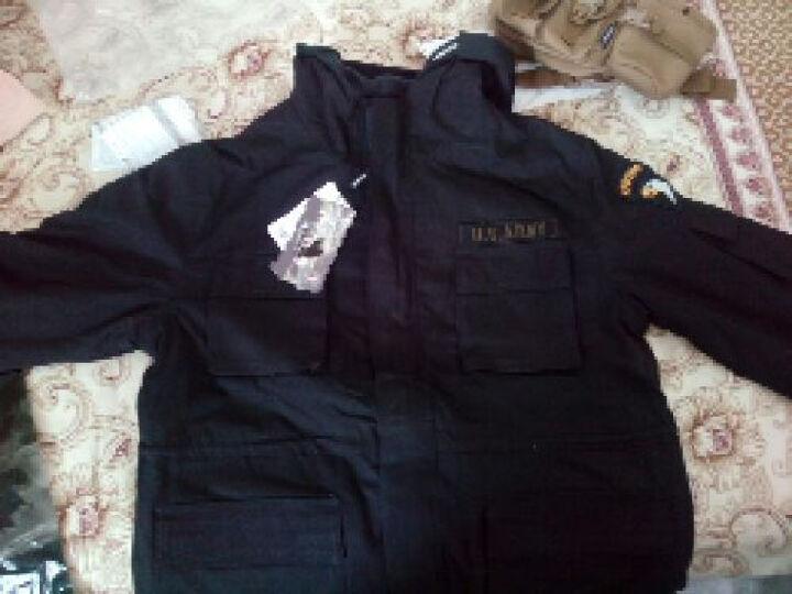 自由骑士(FREEKNIGHT) 户外战术风冲锋衣军装美军空降师军迷迷彩男士抓绒衣 黑色 XXXL 晒单图