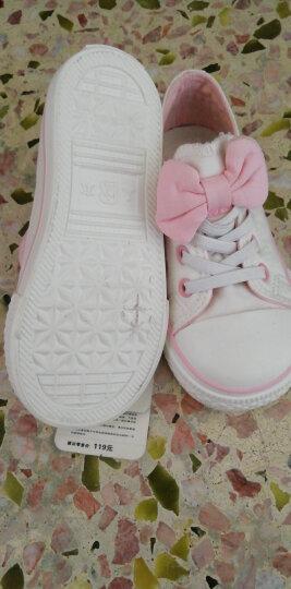 【专区58元2件】人本帆布鞋儿童鞋女宝宝蝴蝶结公主鞋新款幼儿园室内鞋 黑色 25 晒单图
