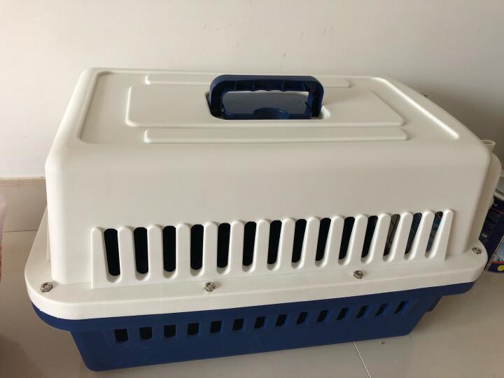 英伦印象 宠物航空箱猫笼子狗狗外出便携手提箱旅行托运内置食盒车载狗笼兔笼V6时尚蓝(适合15斤以下宠物) 晒单图