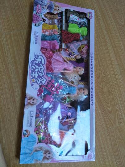 【疯狂嗨购 芭比钜惠】芭比娃娃玩具套装大礼盒洋娃娃换装芭比公主娃娃过家家玩具女孩礼 F【2个娃娃132件套(80cm超大礼盒) 晒单图