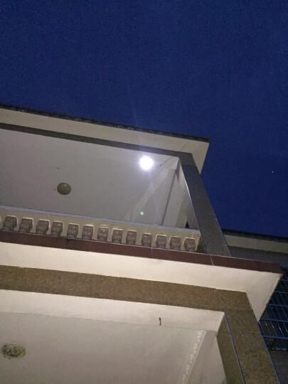 太阳能灯 户外壁灯光控遥控防水感应led庭院灯家用路灯花园灯室外 大黑板泛光灯10W 晒单图