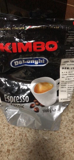 德龙(Delonghi)咖啡机 咖啡豆 金堡(KIMBO)经典拼配意式浓缩咖啡豆(1000g) 晒单图