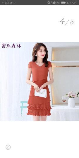 密瓜森林连衣裙2018春夏季新款女装夏季雪纺蛋糕裙连衣裙080 大红色 M(95斤) 晒单图