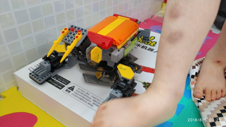优必选(UBTECH) ?优必选 JIMU积木玩具智能机器人 电动遥控拼装模型儿童玩具 积木智能机器人--探索者 晒单图