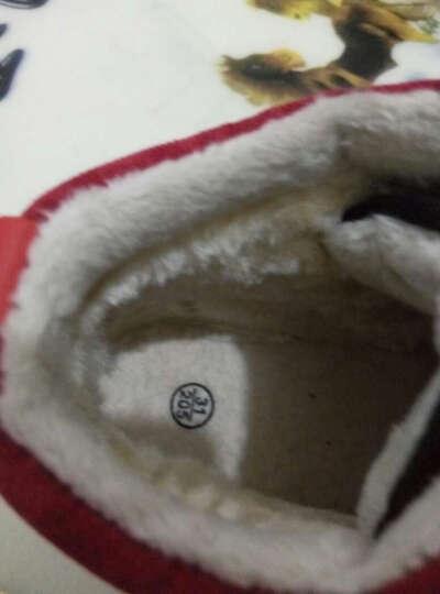 博士牛 冬季新款男童棉鞋男女童拼色棉靴保暖加绒儿童雪地靴童鞋1412 1412咖啡色 33码/内长20CM 晒单图