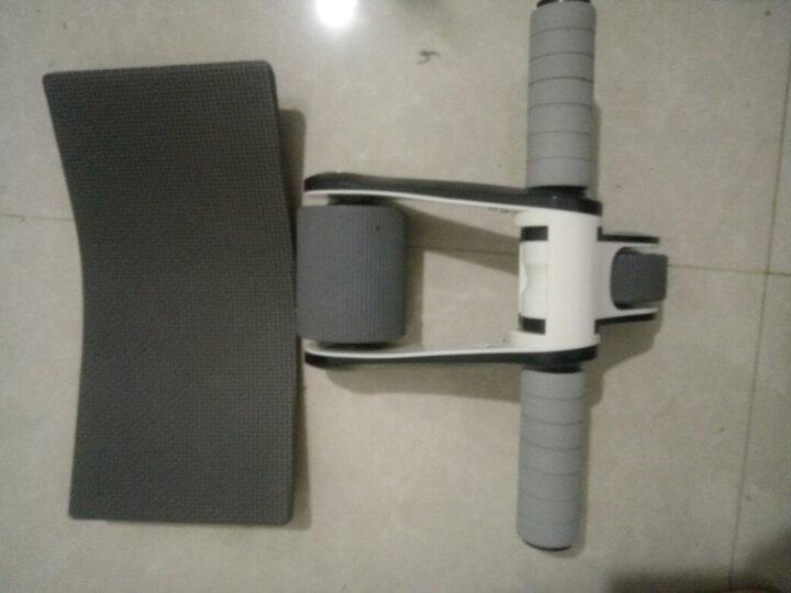 折叠健腹轮巨轮练腹肌轮双轮滚轮体育用品健身器材家用便携 黑色 晒单图