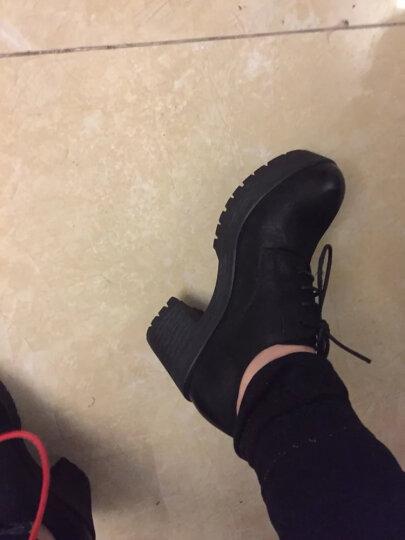 【门店直发】Senda/森达新款专柜同款英伦休闲女单鞋粗高跟3CU20CM7 黄色 36 晒单图