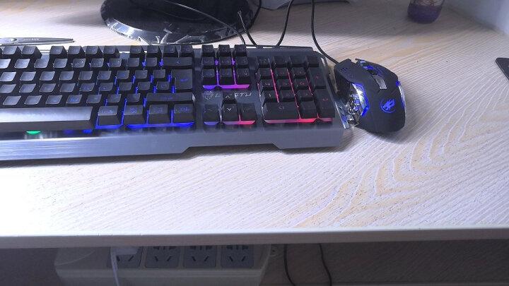 狼途(LANGTU) 机械手感键盘鼠标套装电竞游戏家用外设笔记本电脑有线键鼠套装耳机三件套防水 银黑七彩键盘+游戏鼠标 晒单图