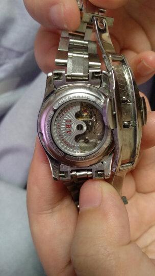 【视频看货】路宝(IBV)手表女士机械表全自动时尚简约水钻时装表超薄防水手表 银白钢带镶钻8629 晒单图