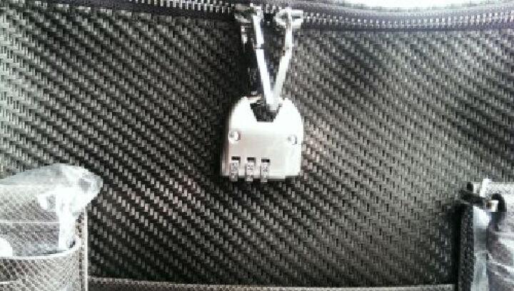 派保爵pabojoe男女通用大容量旅行包手提包席纹防水帆布手提行李包袋男包59001 咖色 晒单图