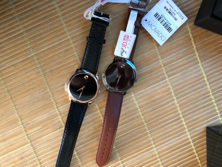 摩凡陀(Movado)官方旗舰店 瑞士手表 博物馆系列 MUSEUM CLASSIC男士石英手表 皮带腕表0607060 晒单图
