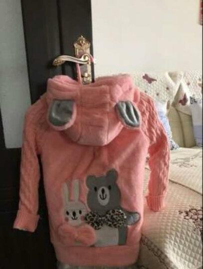 棉兔花依  童装女童外套春秋款上衣2018新款韩版短款夹克衫开衫纯色中大童儿童学生上衣 玫红 150 晒单图