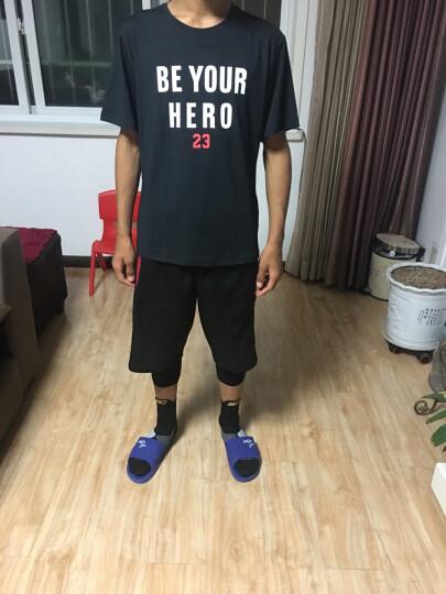 运动裤男士 AJ23篮球短裤夏季压缩健身紧身长裤过膝五分速干裤高弹打底七分裤篮球服 PG灰+反光白七分裤 XL(175-180高.135-150斤) 晒单图