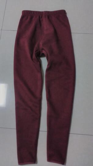 北极绒 保暖内衣男女士加厚加绒棉质套装 细羊毛一体超厚加绒保暖上衣加保暖裤套装 女深降红 女款160/90(M) 晒单图