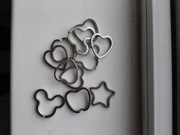 拓驰 小钥匙圈 金属钥匙环 配件圈 艺术圈 创意圈 钥匙扣 汽车遥控器小孔专用 创意苹果圈 晒单图