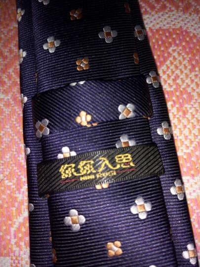 领带男窄韩版休闲男士商务礼服正装领带 结婚 酒红刺绣小花 3条装 晒单图
