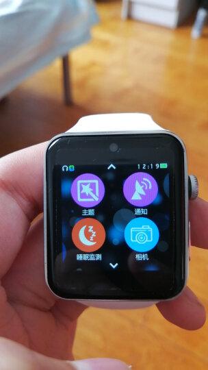祎微 【包邮】新款初中生高中生男女学生电话手表可插卡打电话智能手表闹钟计步器睡眠检测久坐提醒 银白 晒单图