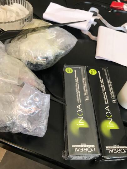 欧莱雅 沙龙专属 伊诺雅第二代染发膏(京东售后 包邮)无氨无刺激气味 盖白发 快速上色 发廊用染膏 3.0 自然黑(盖白发) 晒单图