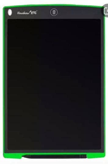 好写(howshow)液晶手写板 儿童写字板 宝宝画板光能黑板 早教涂鸦记事本 手绘板 12英寸绿色赠简笔画册和保护袋 晒单图