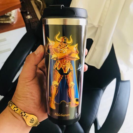 卡依欣动漫水杯 圣斗士星矢不锈钢杯子 十二星座茶杯咖啡杯 动漫隔热杯随行杯插画杯 金牛座 晒单图