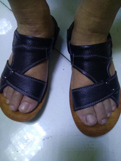鲁宾尼2018新款皮鞋男商务休闲男士皮鞋一脚蹬懒人高跟加棉皮鞋真皮鞋子男rDgfBMtygo 棕色加棉 40 晒单图