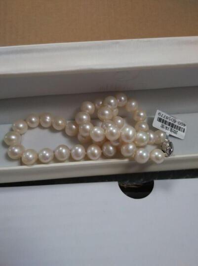 源生珠宝 淡水珍珠项链 女款大颗粒近圆白色珍珠项链 送老婆送妈妈礼物合金项链扣 10-11mm 长度43cm 晒单图