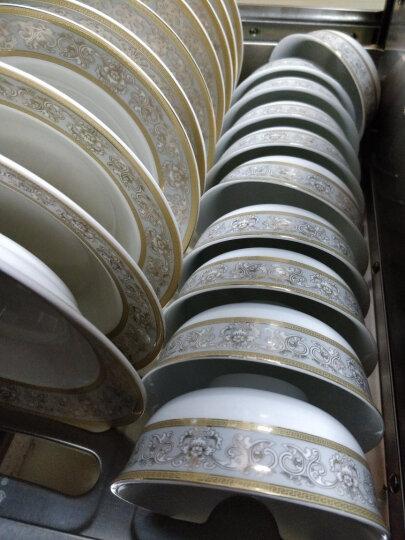 红叶 餐具碗碟套装家用陶瓷盘碟景德镇陶瓷礼品 60头伊丽莎白 晒单图