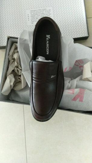 意尔康皮鞋经典商务休闲男鞋日常舒适套脚单鞋S541AE73153W棕色40 晒单图