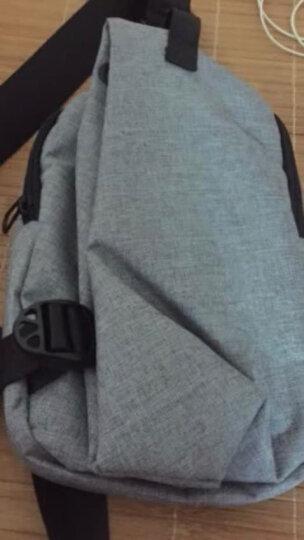 【一趣AFUN】胸包 斜挎包单肩包腰包男士韩版多功能运动休闲背包 防水旅行包斜挎包iPad包时尚潮流 灰色 晒单图
