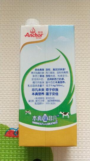 新西兰进口牛奶 安佳Anchor全脂牛奶UHT纯牛奶1L*6 晒单图