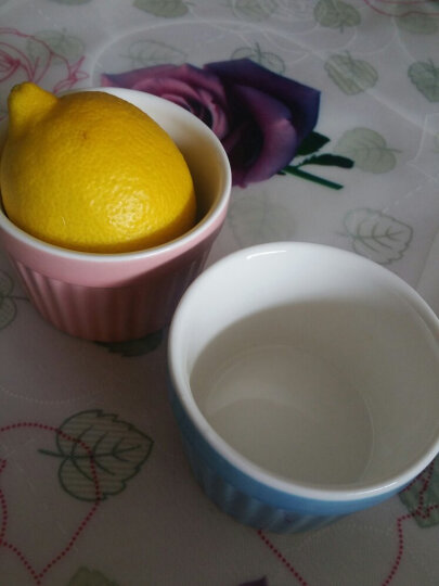 yomerto 悠米兔 舒芙蕾烤碗创意烘焙蛋糕模具蒸蛋碗陶瓷耐高温烤杯 靓丽粉 晒单图