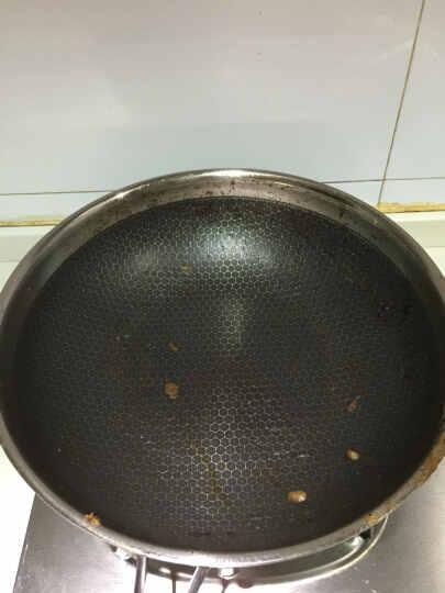 钻技(ZUANJ) 炒锅30CM不粘锅不锈钢锅炒菜锅电磁炉通用 晒单图