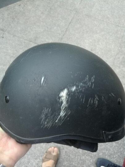VECCHIO复古头盔电动车摩托车头盔男女款夏盔瓢盔半盔复古盔时尚 亚黑 L 晒单图